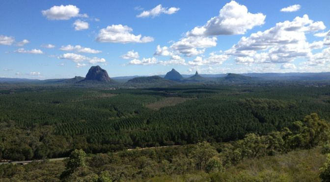 Glass House Mountains – Mt Tibrogargan and beyond