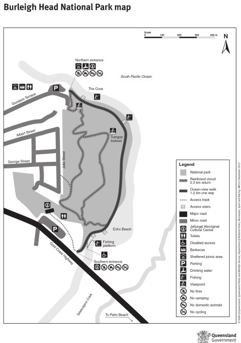 Burleigh Head National Park map