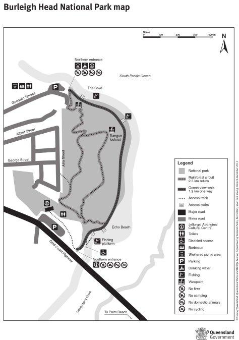 Burleigh Head National Park map